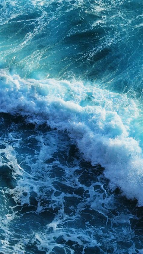 Beautiful Blue Waves Iphone 6 Plus Wallpaper Iphone
