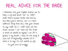 Marital Advice For Bridal Shower bride to be funny quotes quotesgram