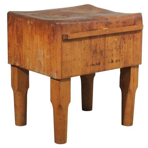 American Antique Butcher Block Table Chairish