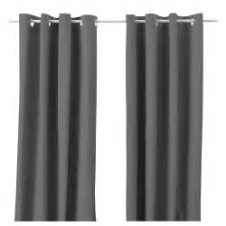 merete curtains 1 pair grey 145x250 cm ikea
