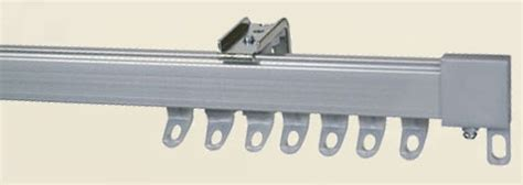 curtain tracks and curtain rails in metal and plastic