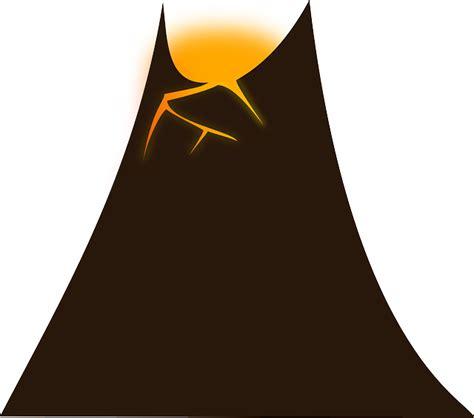 chambre magmatique free vector graphic volcano lava mountain