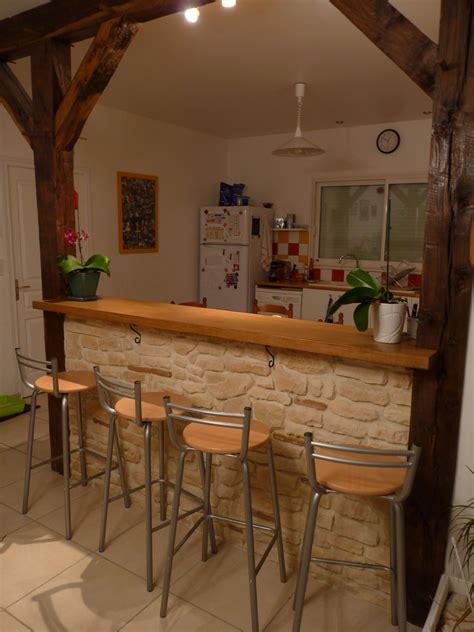 bar cuisine bois cuisine brique bois