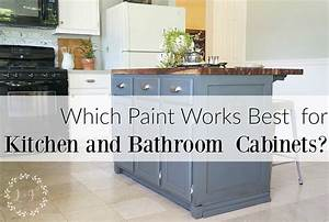 Which is it best paint use kitchen bath cabinets for What kind of paint to use on kitchen cabinets for wall art buy online