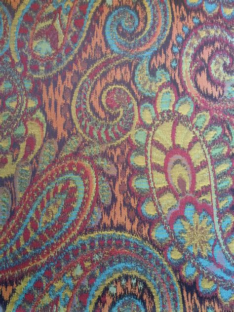 Medium Weight Upholstery Fabric by Pailsley Print Medium Weight Upholstery Fabric Tone Soft