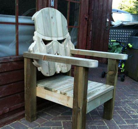 wood is custom stormtrooper lawn chair geekologie