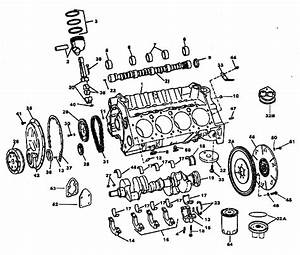 Small Block Gm Marine Engine Parts Breakdown Pistons Crankshaft