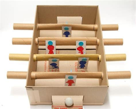 preschool crafts  kids recycled cardboard foosball