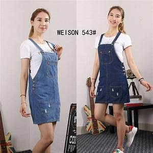 Denim Jumper dress | Shopee Philippines