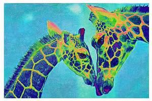 """Pop Art """"Giraffes"""" Artwork For Sale on Fine Art Prints"""