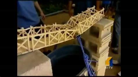 popsicle bridge contest youtube