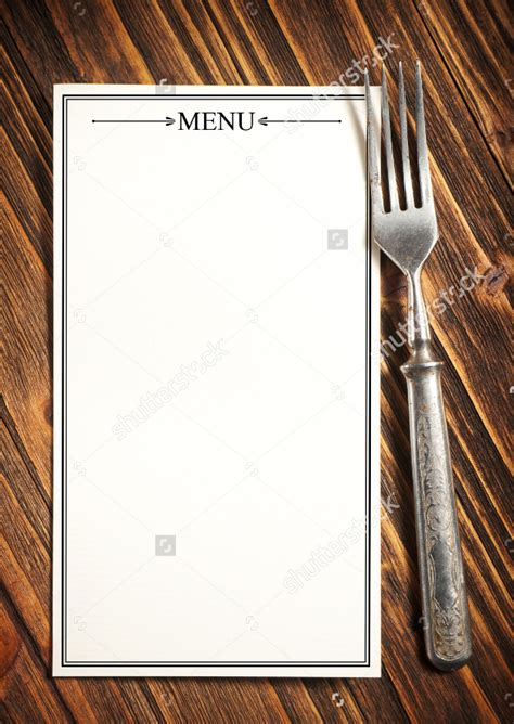 blank menu template 21 blank menus sle templates