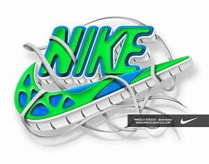 Nike Logo - Blue / Green Swoosh | Nike | Pinterest