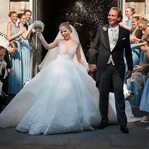 viktoria swarovski got married in a gown covered in With swarovski wedding dress