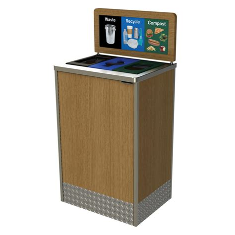 restaurant  foodservice recycling bin cleanriver