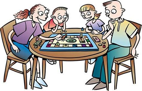 People Playing Board Games Clipart