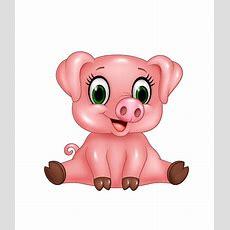 Cute Pink Pig Cartoon Vector Animal Free Download