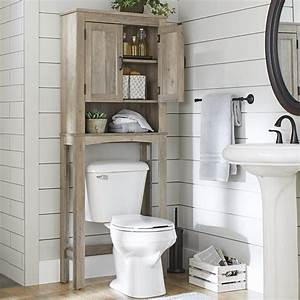 Over, The, Toilet, Bathroom, Space, Saver, Rustic, Gray, Toilet, Shelves, Decor, Wood, 43197161277