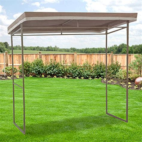 garden winds flat roof grill gazebo replacement canopy riplock 350 ebay