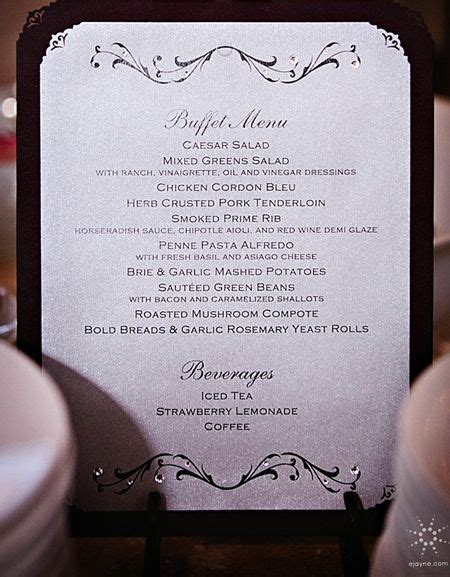 custom buffet menu wwwinvitationsbydragonflydesignscom