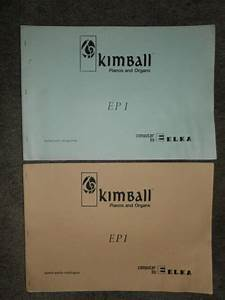 Kimball Elka Ep1 Electronic Organ Schematic Diagram Manual