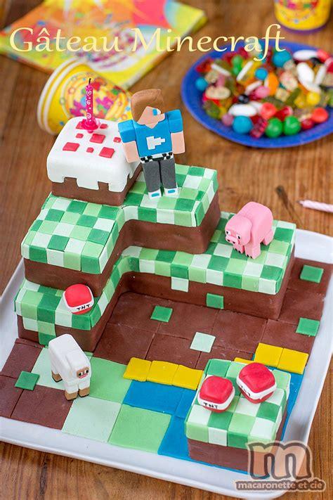 Gâteau Minecraft  Macaronette Et Cie