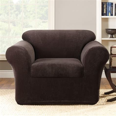 Sure Fit Club Chair Slipcovers by Sure Fit Stretch Metro 2 Club Chair Slipcover
