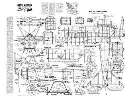 fokker dr triplane plan thumbnail airplanes pinterest