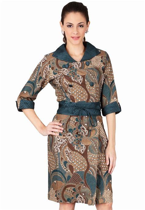 model dress batik casual  wanita modern