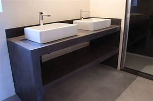 salle de bain beton cire beton cire france With meuble beton cire salle de bain