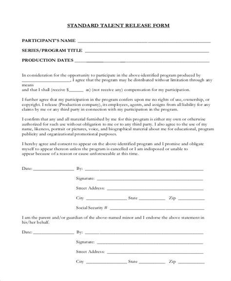 free talent release form free talent release form understanding the background of