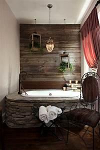 salle de bains en pierre 35 modeles en marbre granit With salle de bain pierre et bois