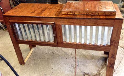 rustic custom wood cooler byamoore wood plans pinterest