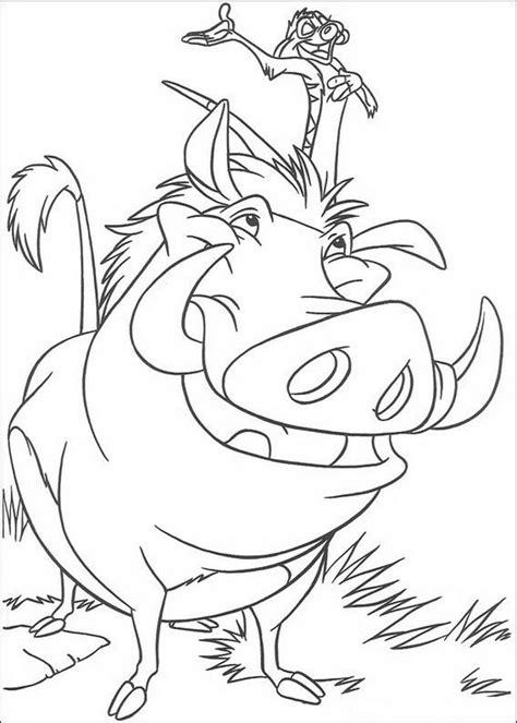 Kleurplaat Pumba by Kleurplaat King Of De Leeuwenkoning Timon En Pumba