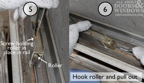 how to replace rollers in aluminum sliding glass doors
