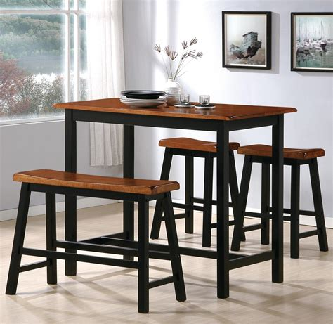 4 piece pub table set crown mark tyler 2729set 4 piece counter height table set
