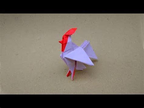 tutorial  membuat origami ayam jago