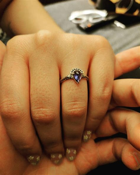 Non Traditional Sapphire Engagement Ring I Love It