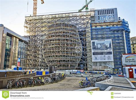 The New Europa Building Construction Editorial Stock Image