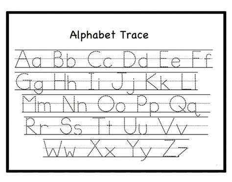 Free Letter Tracing Worksheets Pdf Printable For Toddlers, Preschoool & Kindergarten