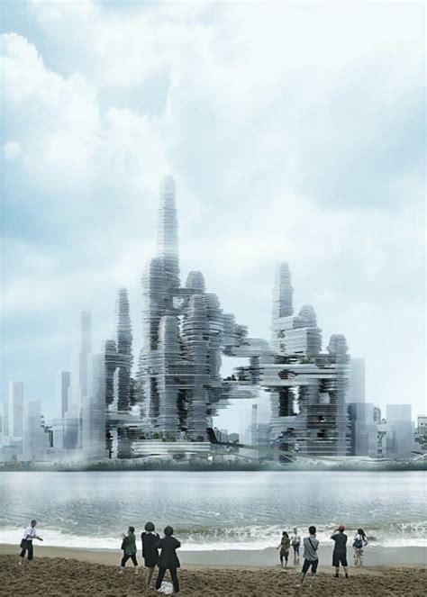 futuristic chinese megastructure  include soaring