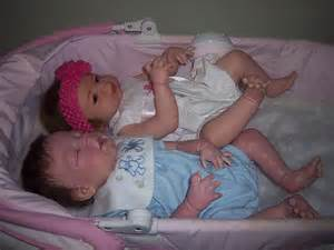Full Body Silicone Reborn Babies Twins