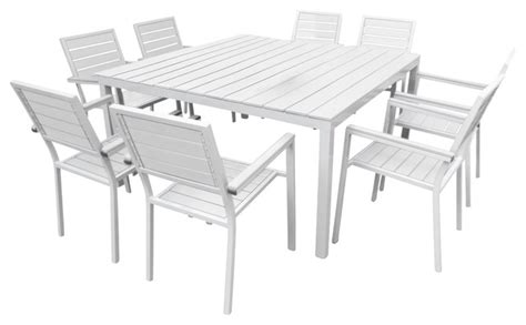 outdoor patio furniture aluminum 9 square dining