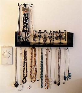 Wall-Mounted DIY Jewelry Shelf Organizer DIYIdeaCenter com