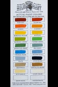 Milk Paint Color Chart Milk Paint Colors Milk Paint