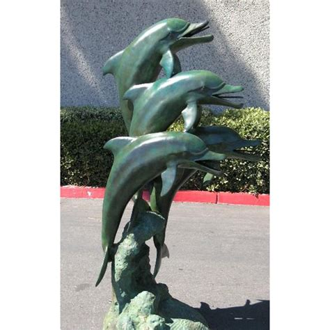 dolphin statues bronze 4 dolphins fountain