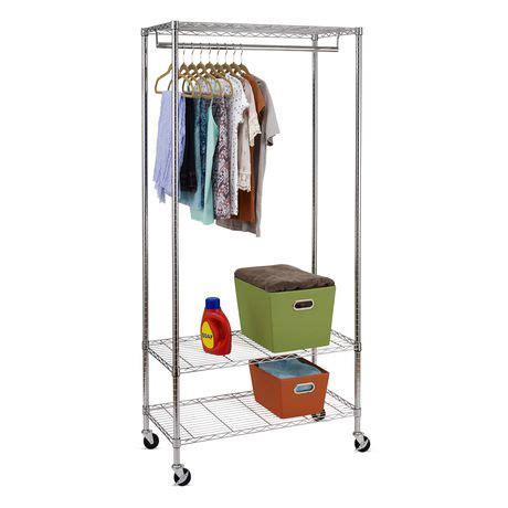 walmart clothing rack 3 shelf deluxe garment rack walmart canada