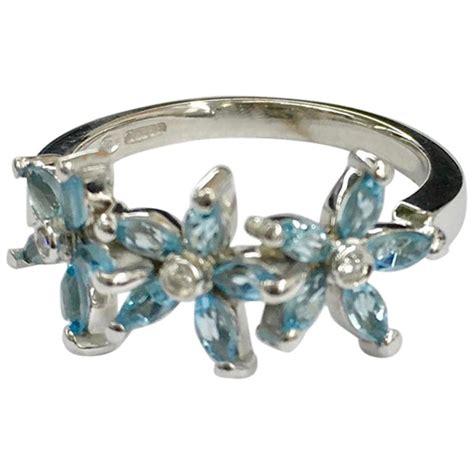 carat white gold aquamarine  diamond ring  sale