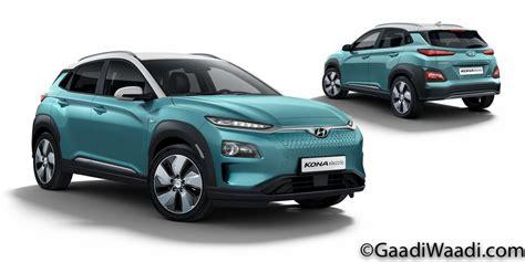 Electric Car Price Range by 2018 Hyundai Kona Electric Suv India Launch Price Specs