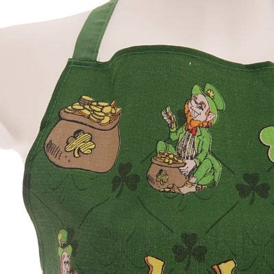 Kitchen Aprons Ireland by Green Funky Novelty Ireland Leprechaun Cotton Apron In